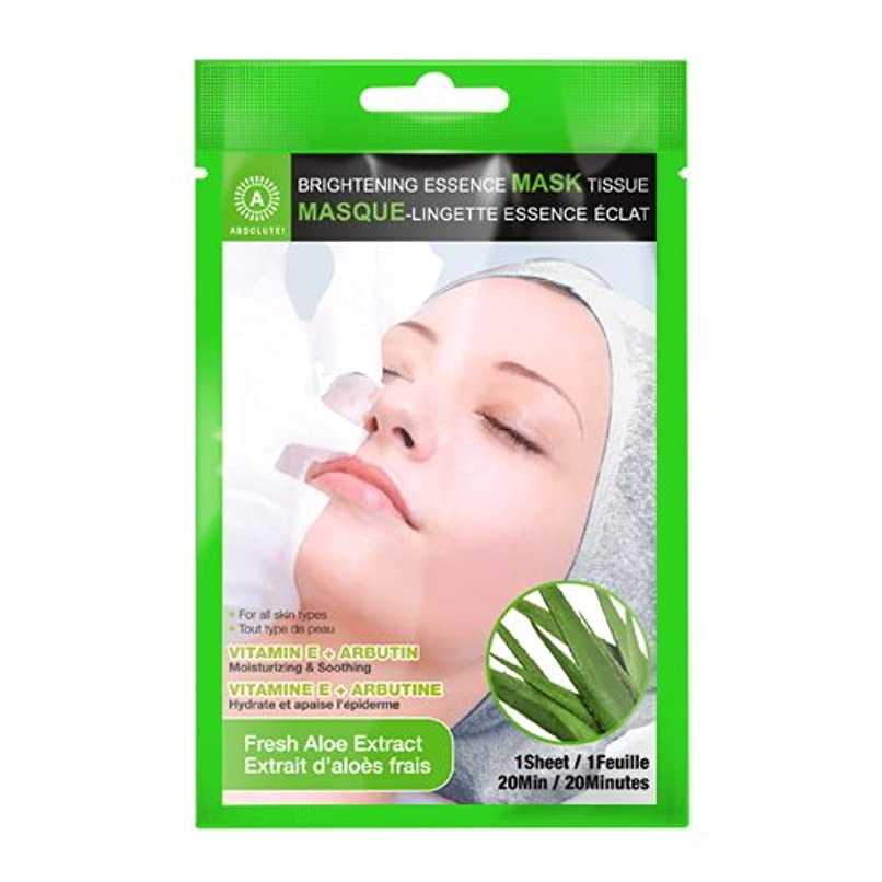 文庫本製造デンマーク(6 Pack) ABSOLUTE Brightening Essence Mask - Fresh Aloe (並行輸入品)