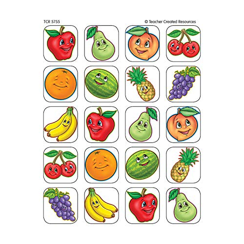 Teacher Created Resources Fruits Stickers, Multi Color (5755)