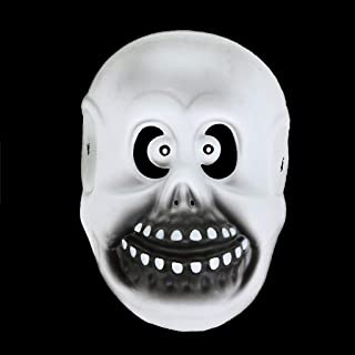LFOZ Halloween Horror Grimace Mask Scary Ghost Face Mask Full Face Costume Mask (Color : F)