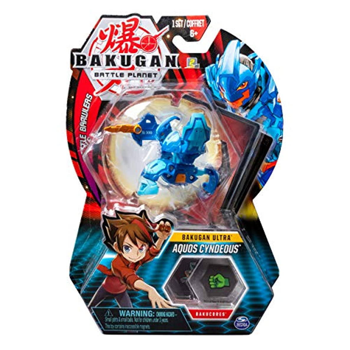 Bakugan Ultra, Aquos Cyndeous, 3-inch Tall Collectible Transforming Creature, for Ages 6 and Up