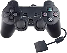 ForBEST PS2 Controller Wired Controller, Double Shock Double Vibration Motor Gamepad PS2 Controller for Sony Playstation 2