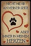 Cartel de chapa con texto en alemán 'Nicht mehr an meiner Seit', 20 x 30 cm