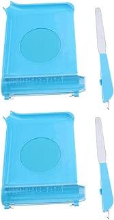 Almencla Bandeja De Conteo De 2 Piezas Con Espátula, Cortador De Contador De Pastillas Para Farmacia Para Contar Medicamentos/Tabletas (azul)