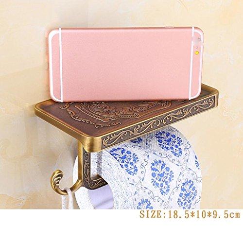 Support de rouleau de support de téléphone en acier inoxydable de matériel de salle de bains de couleur rétro de cuivre Rollsnownow