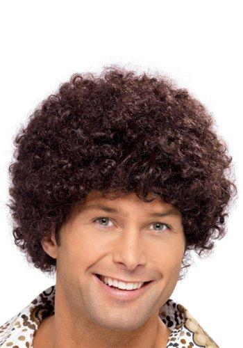 Perruque disco marron homme