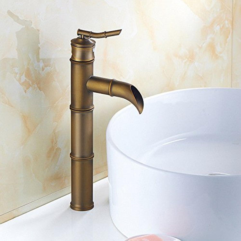 Moderne einfacheKupfer hei und kalt Spülbecken Wasserhhne Küchenarmatur RetroKupfer Bad Becken Wasserhahn warmes und kaltes Wasser Waschbecken Wasserhahn Geeignet für alle Badezimmer Spülbecken