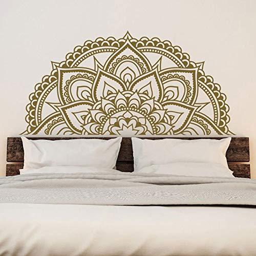 Mandala calcomanía de pared dormitorio adorno de cabeza de cama medio Mandala pegatinas de ventana de coche Yoga estilo hippie indio decoración interior A4 57x29cm