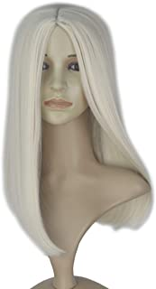 Miss U Hair 19Inch Long Straight Center Part Wig Deluxe Halloween Girl's Costume Wig (Platinum)