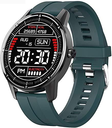 JIAJBG Reloj Inteligente de la Moda, Rastreador de Ejercicios Watch Y Monitor de Presión Arterial Del Ritmo Cardíaco Impermeable Bluetooth Smartwatch Deportivos Rastreador Inteligen