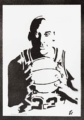 Poster Michael Jordan Grafiti Hecho a Mano - Handmade Street Art - Artwork
