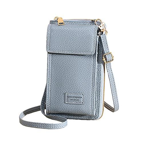 Bolsos cruzados con cremallera a la moda para mujer, bolso para teléfono móvil, solo bolsos de hombro