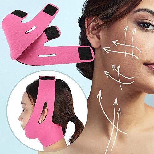 V Masque Facial Minceur, V Ceinture Visage Ligne Chin Cheek Slim Lift Up Anti Rides Masque Bracelet Bande Ultra-Mince Respirant