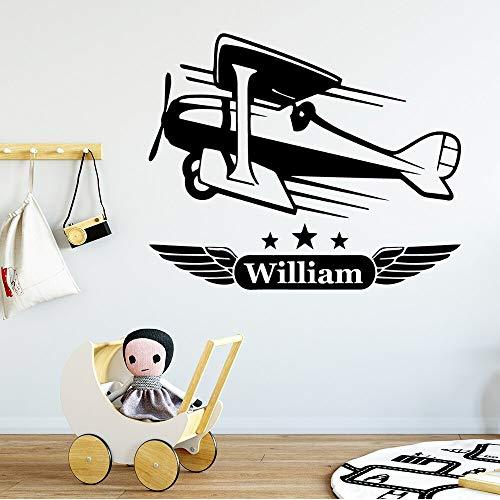 Hermoso papel tapiz de avión pegatinas de pared calcomanías para habitación de niño pegatinas de papel tapiz para habitación de niños pegatinas de pared A7 XL 57x69cm
