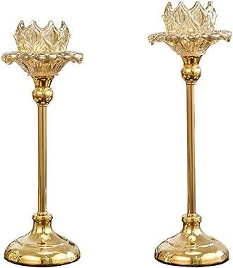 Chandelier Bougeoir en Verre Porte-Bougie Romantique Dîner Dîner Produits Bougeoir Table de Table Décoration Simple Chandelie