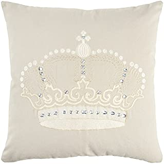 Rizzy Home Andrew Charles Collection Embroidered & Hand Beaded Work Decorative Pillow, 20