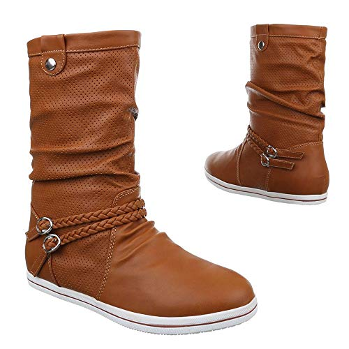 bonprix Damen Stiefel Farbe: Caramel Größe: 38