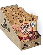 John Altman Noten - Chocolade Notenmix - Veganistisch - Duurzame verpakking - 100% natuurlijk - Perfect voor onderweg - Zonder kunstmatige toevoegingen - 10x 45 gram