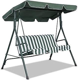 SFGHOUSE - Cubierta para columpio de jardín de 3 y 2 plazas, cubierta superior de repuesto para silla de columpio, cubierta superior para patio al aire libre