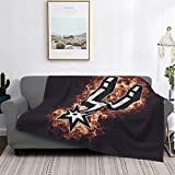 Mabell San Antonio Basketball Sports Spurs Ultra-Soft Micro Fleece Blanket Home Decor Warm Anti-Pilling Flannel Throw Blanket for Couch Bed Sofa 60'X50'