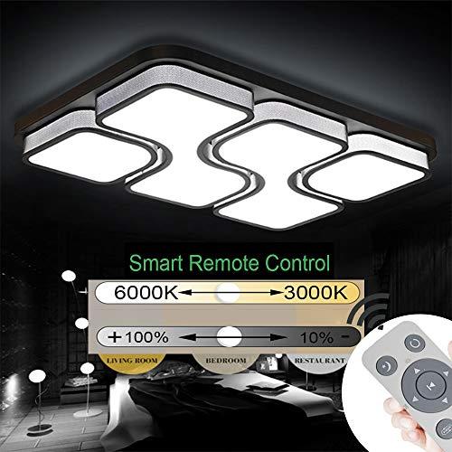 JINPIKER 78W Deckenleuchten Dimmbar LED Deckenleuchte Korridor Wohnzimmer Schlafzimmer Energiespar Panel-Wandleuchte Elegant und großzügig Deckenlampe,Schwarz