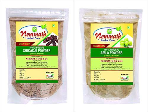 Shikakai Pods (Acacia Concinna), Amla Fruit (Emblica Officinalis) Powder -(Pack Of 2) Each 100 gm (3.52 OZ)