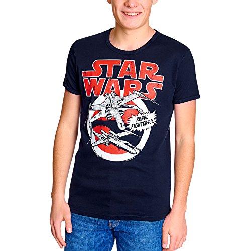 Star Wars X-Ailes T-Shirt Femmes/Hommes Unisexe Très Haute Qualité D'Impression Grande Marine Avant XS-XXL - XL