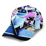 N - A Gorra de béisbol de WAL-E con protección solar de poliéster ajustable, unisex, gorra de camionero, color negro