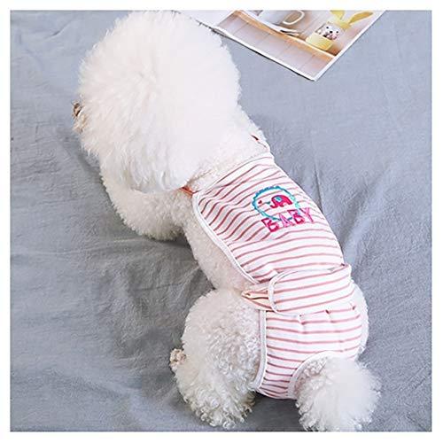 Ropa Interior con Tirantes para Perros de algodón, Pantalones para Perros, pañales para Cachorros, Bragas sanitarias, Pantalones menstruales fisiológicos para Perros y Mascotas (Size : Small)