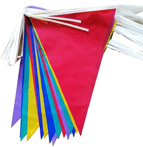 2 x 10-Metre PVC Double-Sided Bunting - 20 Flags