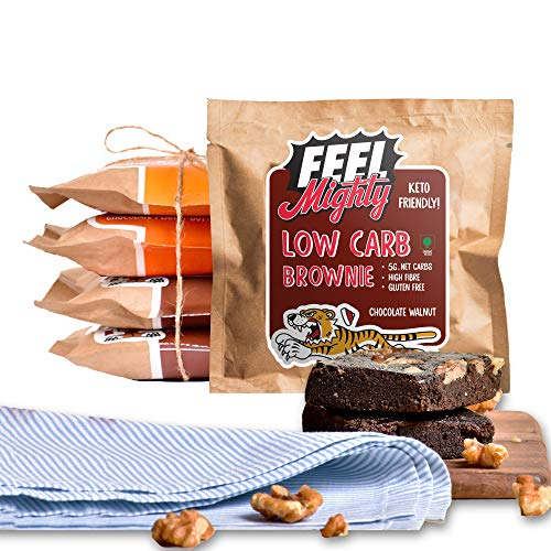 Feel Mighty Chocolate Walnut & Peanut Butter Low Carb Brownies – Pack of 5