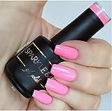 Sparkle & Co. Gel Color 014 Solid Bright Barbie Pink Soak Off UV/LED Gel Nail Polish 15ml