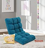 Iconic Home Daphene Microplush Modern Contemporary Armless Quilted Recliner Recliner Chair, Dark Blue