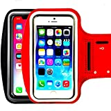 [2pack] Universal Sport Running Exercise Gym Sport Armband, iEugen Case for iPhone 11 PRO MAX X XR X XS MAX 8Plus/iPhone 7 Plus/6 Plus/6s Plus,with Key Holder & Card Slot,Water Resistant-Black+Silver