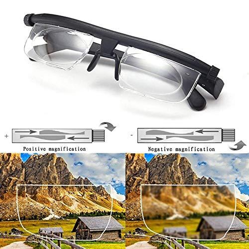 Aisima Adjustable Focus Brille Dial Vision Lesebrille Variabler Fokus Nah- und Fernsicht Fernsicht für Senioren