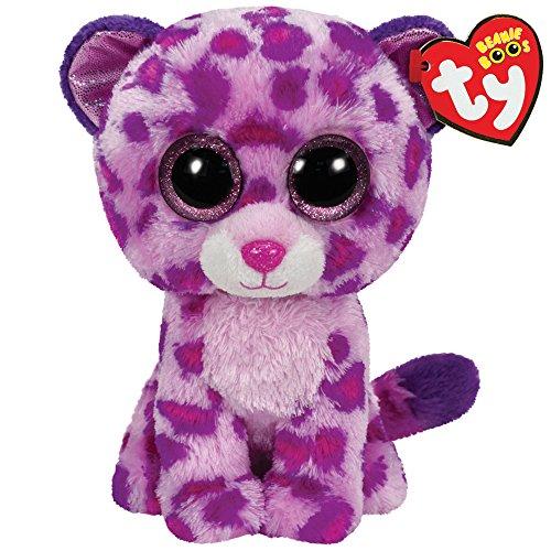 TY 36085 36085-Plüschtier Beanie Boos Glamour Leopard, pink