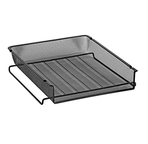 Eldon 22211 Rolodex Mesh Stackable Front Load Letter Size Tray, Wire, Black (22211ELD)