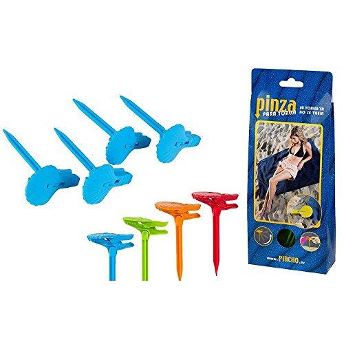 Color Baby - Set 4 Pinchos sujetatoallas para Playa (53386) ⭐