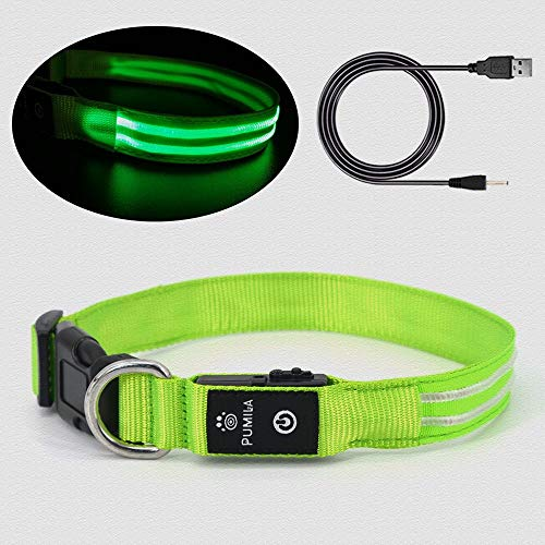Rechargeable Led Dog Collar - Waterproof Light Up Dog Collar, Safety Pet Collar - Flashing Light Collar for Small, Medium, Large Dogs