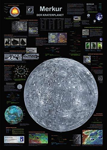 Merkur: Der Kraterplanet (Planet-Poster-Box)