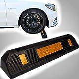 Garagenstopper mit Reflexionsstreifen aus extra reifenschonender Gummimischung/Radstopper Auto Garage (1x Garagenstopper)
