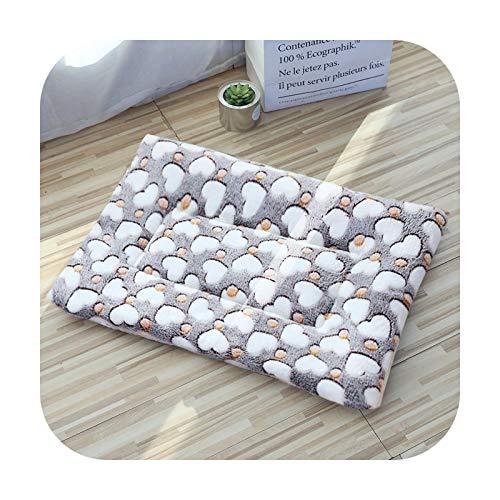Alfombrilla de franela suave para perro y mascotas, transpirable, para cama de dormir, cojín de sofá para perros pequeños, medianos y pequeños, accesorios para mascotas, corazones de café, 110 x 75 cm