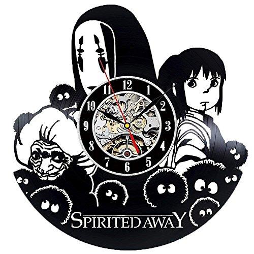 Spirited Away Anime Movie tema Vintage vinilo Record reloj de pared Décor de la casa moderna y Vintage Design