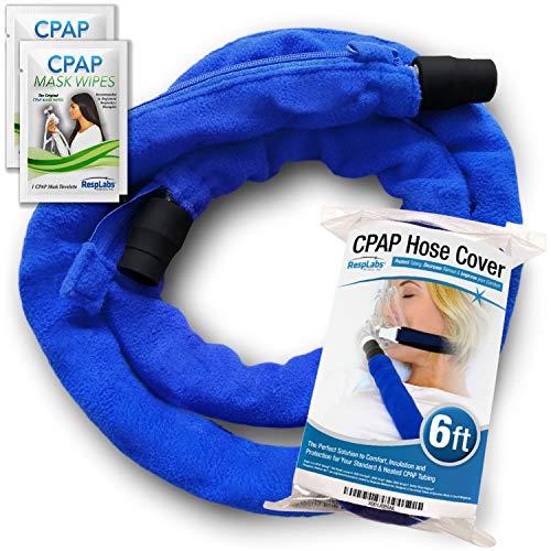 RespLabs CPAP Schlauchabdeckung, Schlauchverpackung. Wiederverwendbarer Fleece-Schlauchisolator mit Reißverschluss, 6 Fuß