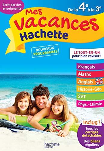Mes Vacances Hachette - De la 4e à la 3e - Cahier de vacances 2021