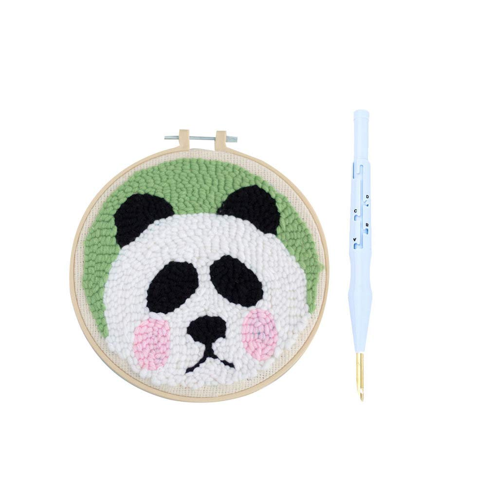 Healifty Punch Needle Embroidery Kits Includes Magic Embroidery Pen Embroidery Needles Punch Needle Tool for Beginners Adults