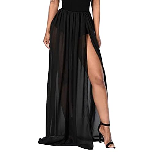 92fc7ae6d6 Momtuesdays2 Women Split Mesh Skirt See-Through Beach Party Maxi Skirts