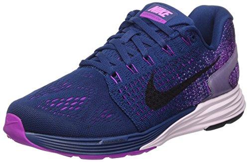 Nike Wmns Lunarglide 7, Calzado Deportivo Mujer, Brave Blue/Black-Vivid Purple, 38