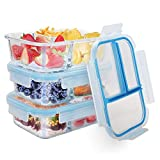 Best Glass Lunch Boxes - Glass Meal Prep Containers TIME4DEALS 3 Pack 36 Review