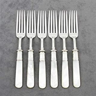 Pearl Handle by Landers, Frary & Clark Luncheon Forks, Set of 6