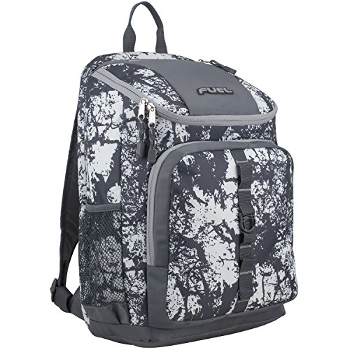 Fuel Wide Mouth Sports Backpack with Laptop Compartment for School, Travel, Outdoors - Gray...